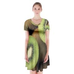 Kiwi 2 Short Sleeve V Neck Flare Dress
