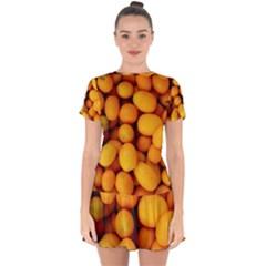 Kumquat 1 Drop Hem Mini Chiffon Dress