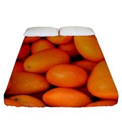 Kumquat 2 Fitted Sheet (queen Size)
