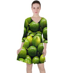 Limes 1 Ruffle Dress