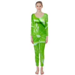 Limes 2 Long Sleeve Catsuit
