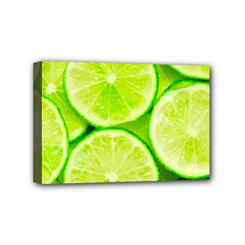 Limes 3 Mini Canvas 6  X 4