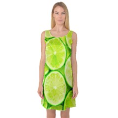 Limes 3 Sleeveless Satin Nightdress