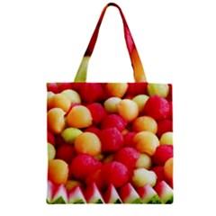 Melon Balls Zipper Grocery Tote Bag