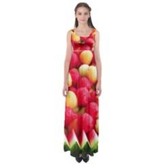 Melon Balls Empire Waist Maxi Dress