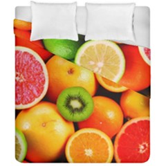 Mixed Fruit 1 Duvet Cover Double Side (california King Size)