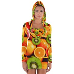 Mixed Fruit 1 Long Sleeve Hooded T Shirt