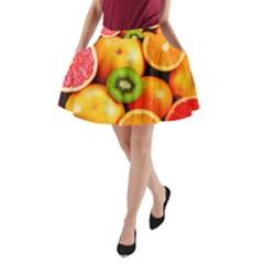 Mixed Fruit 1 A Line Pocket Skirt