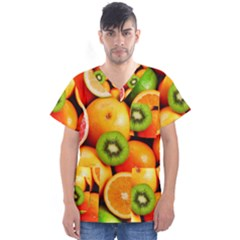 Mixed Fruit 1 Men s V Neck Scrub Top