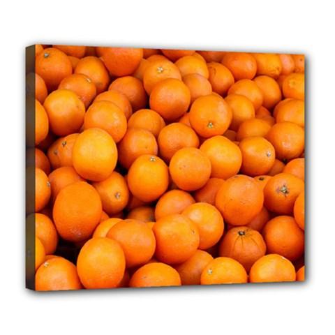 Oranges 3 Deluxe Canvas 24  X 20