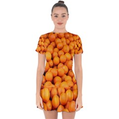 Oranges 3 Drop Hem Mini Chiffon Dress