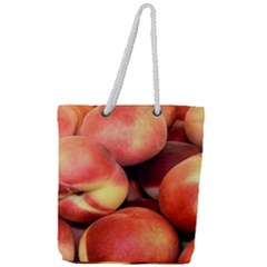 Peaches 1 Full Print Rope Handle Tote (large)