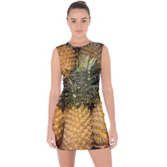 Pineapple 1 Lace Up Front Bodycon Dress