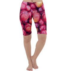 Plums 1 Cropped Leggings