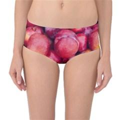 Plums 1 Mid Waist Bikini Bottoms