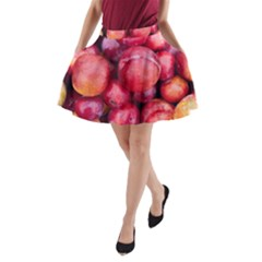 Plums 1 A Line Pocket Skirt