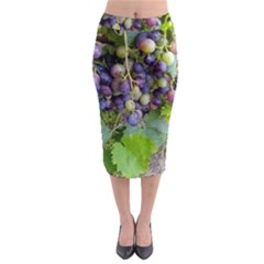 Grapes 2 Midi Pencil Skirt
