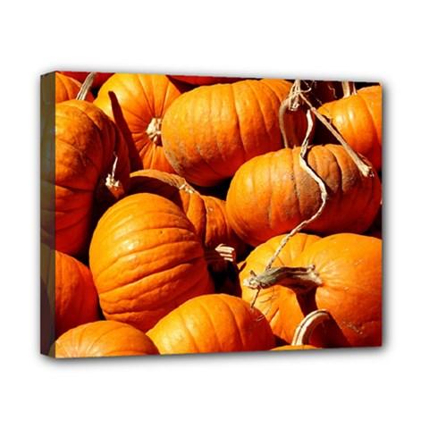 Pumpkins 3 Canvas 10  X 8