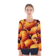 Pumpkins 3 Women s Long Sleeve Tee