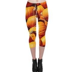 Pumpkins 3 Capri Leggings