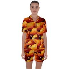 Pumpkins 3 Satin Short Sleeve Pyjamas Set