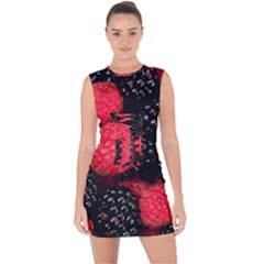 Raspberries 1 Lace Up Front Bodycon Dress