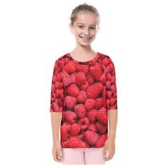 Raspberries 2 Kids  Quarter Sleeve Raglan Tee
