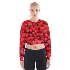 Raspberries 2 Cropped Sweatshirt