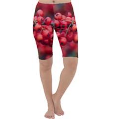 Red Berries 1 Cropped Leggings