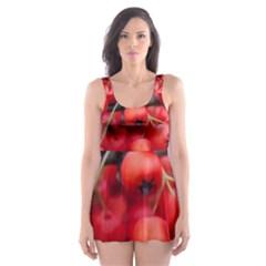 Red Berries 1 Skater Dress Swimsuit