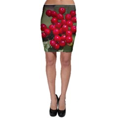 Red Berries 2 Bodycon Skirt