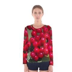 Red Berries 2 Women s Long Sleeve Tee