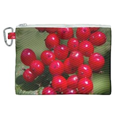 Red Berries 2 Canvas Cosmetic Bag (xl)