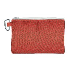 Strawberries 2 Canvas Cosmetic Bag (large)