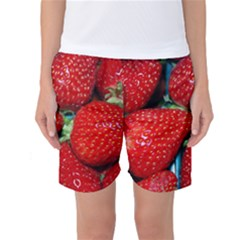 Strawberries 3 Women s Basketball Shorts