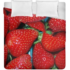 Strawberries 3 Duvet Cover Double Side (king Size)