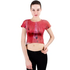 Watermelon 1 Crew Neck Crop Top