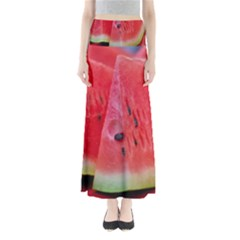 Watermelon 1 Full Length Maxi Skirt