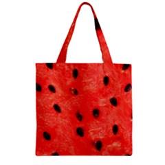 Watermelon 3 Zipper Grocery Tote Bag