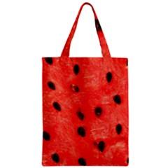 Watermelon 3 Zipper Classic Tote Bag