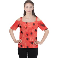 Watermelon 3 Cutout Shoulder Tee