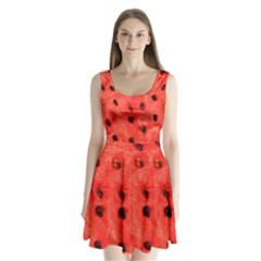 Watermelon 3 Split Back Mini Dress