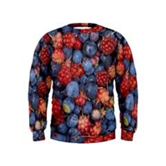 Wild Berries 1 Kids  Sweatshirt