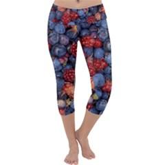 Wild Berries 1 Capri Yoga Leggings