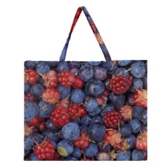 Wild Berries 1 Zipper Large Tote Bag