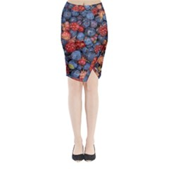 Wild Berries 1 Midi Wrap Pencil Skirt