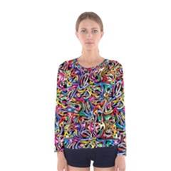 Artwork By Patrick Colorful 8 Women s Long Sleeve Tee