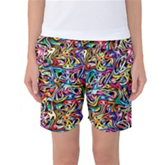 Artwork By Patrick Colorful 8 Women s Basketball Shorts