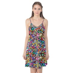Artwork By Patrick Colorful 8 Camis Nightgown