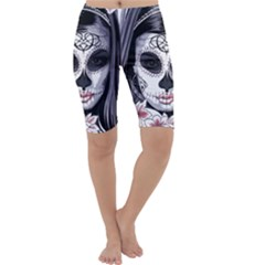 Day Of The Dead Cropped Leggings
